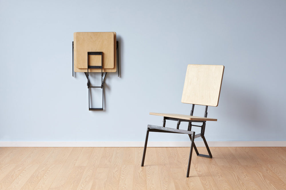 wall hung modern folding chair