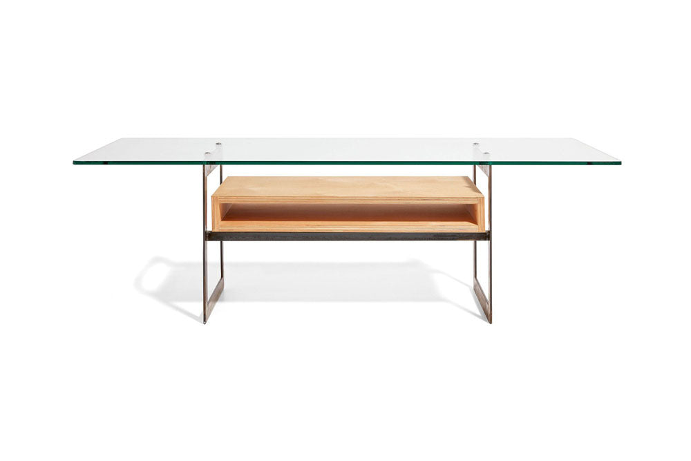 modern coffee table with architectural materials