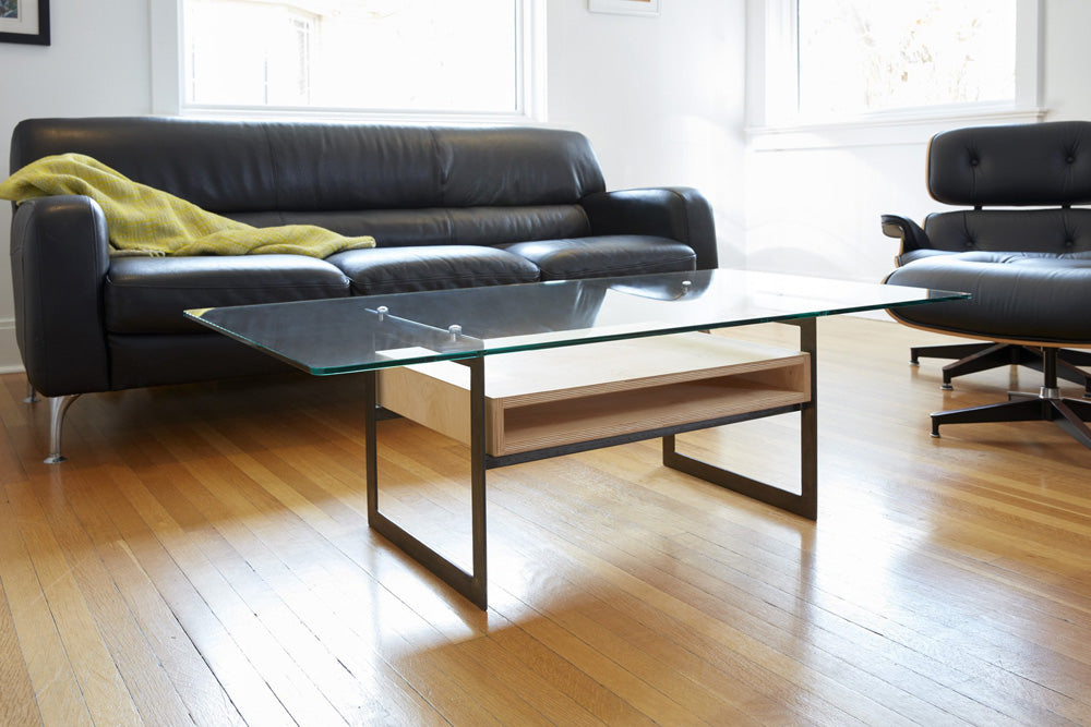 modern coffee table in modern space