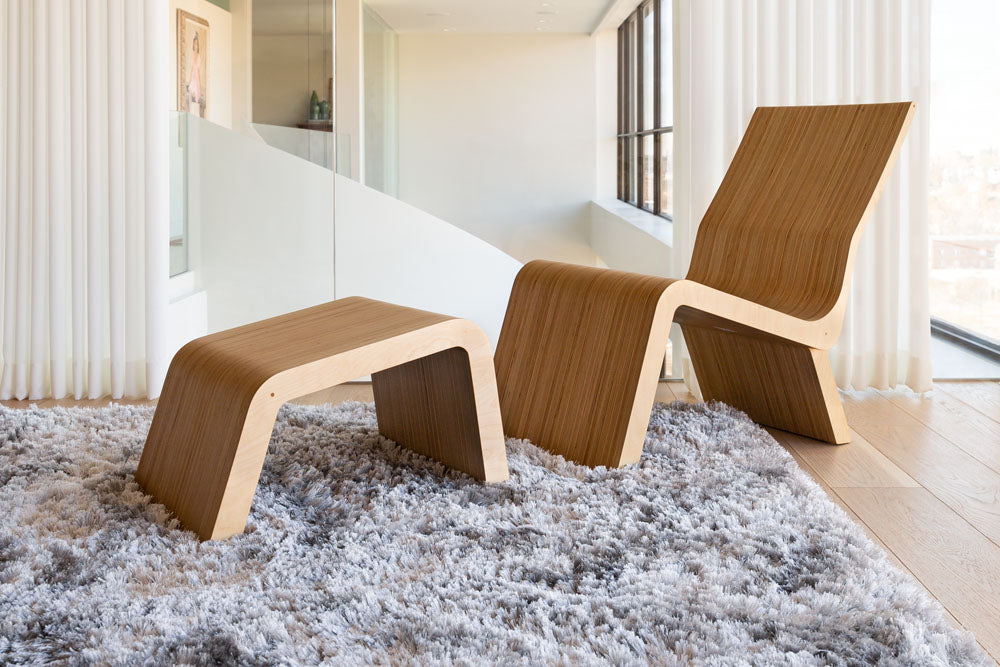 modern lounge chair in luxury space