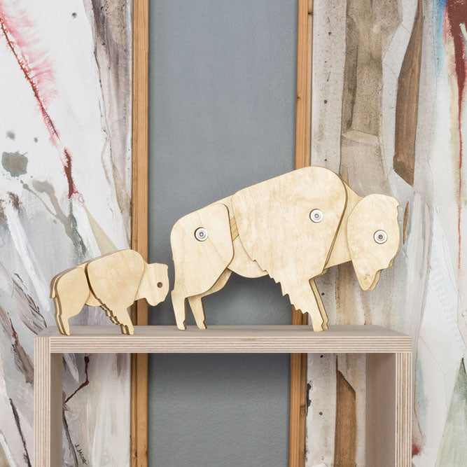 modern bison decor