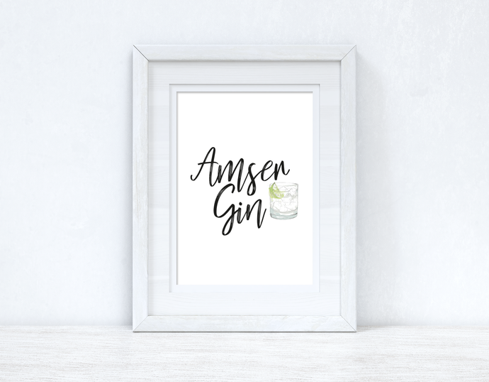 Amser Gin / Gin Time Home Welsh Decor Wall Decor Print