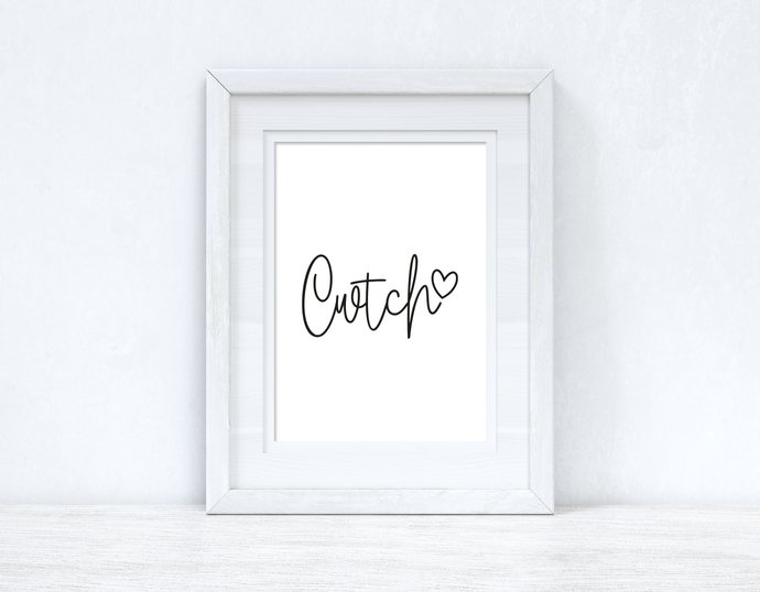 Cwtch Cuddle Heart Home Welsh Decor Wall Decor Print