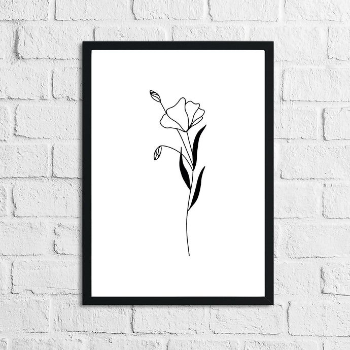 Flower 10 Simple Line Work Bedroom Home Wall Decor Print