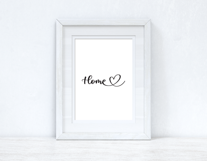 HOME Heart Line Home Simple Room Wall Decor Print