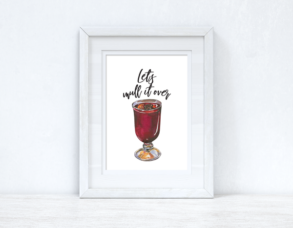 Let's Mull It Over Christmas Seasonal Wall Home Decor Print