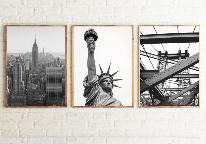 Set Of 3 New York Photography Dressing Room Bedroom Wall Home Decor Prints