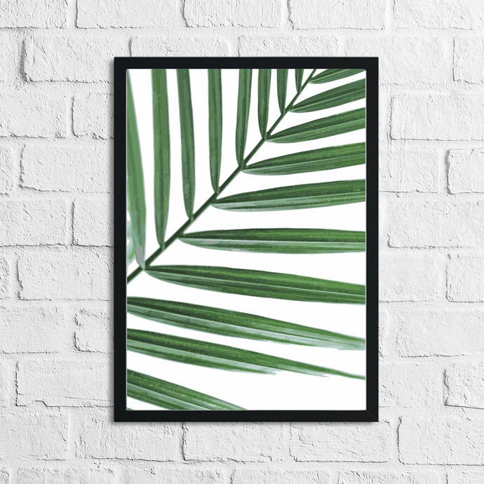 Palm Leaf Botanical Watercolour Room Simple Wall Decor Print