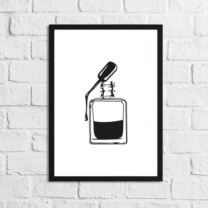 Nail Polish Bottle Dressing Room Simple Wall Decor Print