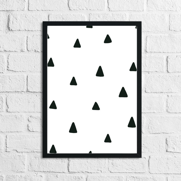 Scandinavian Triangle Pattern Children's Nursery Bedroom Wall Decor Print