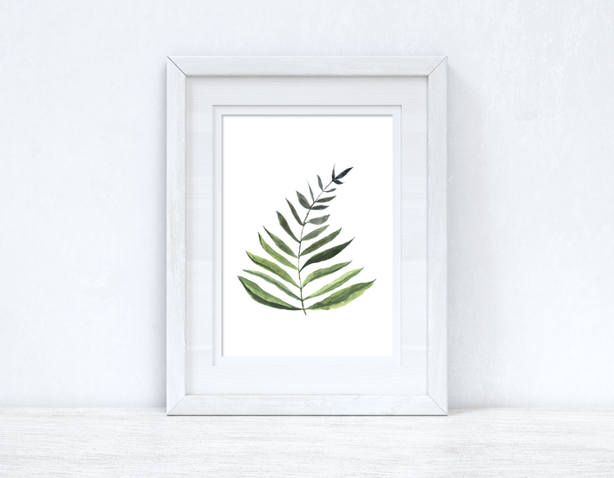 Watercolour Greenery Leaf 1 Bedroom Home Kitchen Living Room Wall Decor Print