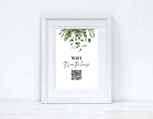 Wifi It's On The House Greenery Wifi QR Scan Home Wall Decor Print