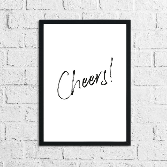 Cheers Drink Alcohol Wall Decor Print