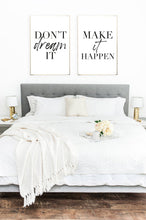 Don't Dream It Make It Happen Set Of 2 Bedroom Decor Wall Prints