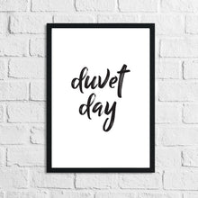 Duvet Day Black Bedroom Simple Decor Print