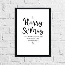 Personalised Found Their Happily Ever After Names Couple New Home Wedding Wall Decor Print