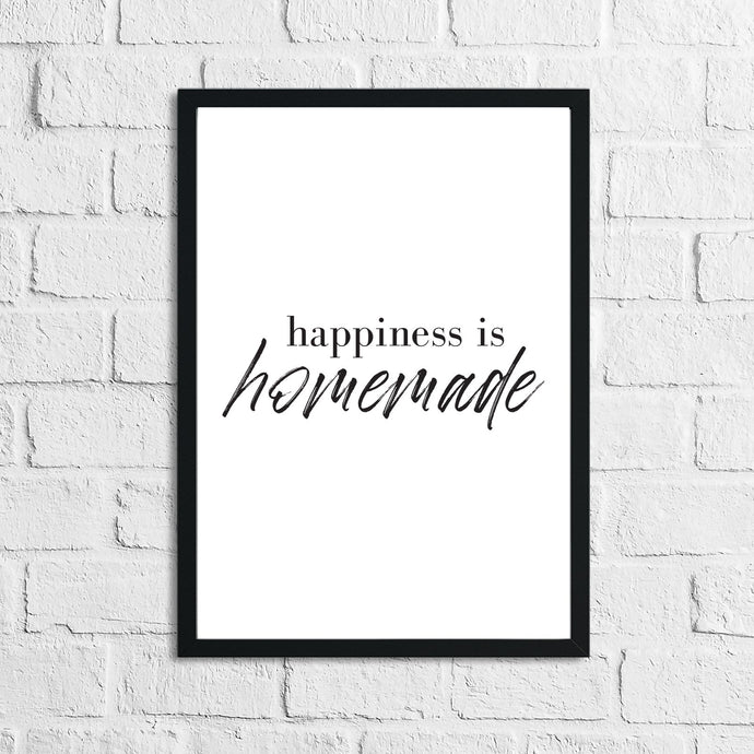 Happiness Is Homemade Simply Home Wall Decor Print