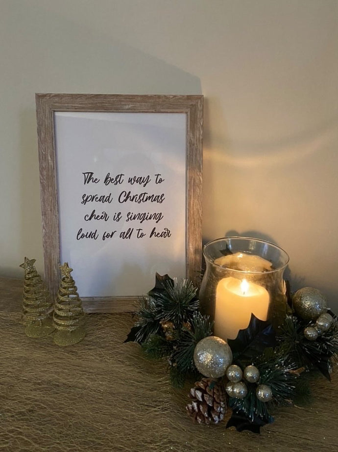 The Best Way To Spread Christmas Seasonal Wall Home Decor Print