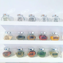 Personalised Custom Any Wording Lauren Font Spice Jar Label Stickers
