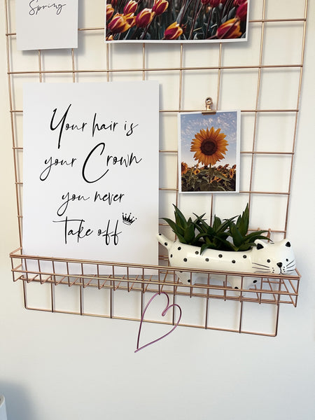 Your Hair Is Your Crown Dressing Room Simple Wall Decor Print