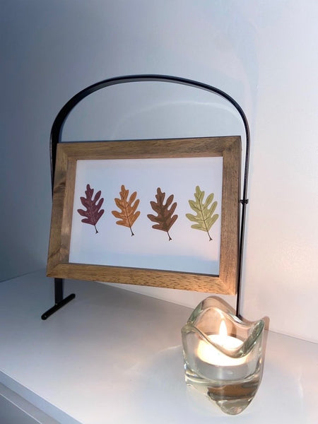 Neutral Tones Earthy 4 Leaves Autumn Seasonal Wall Home Decor Print