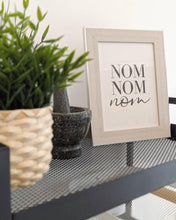 Nom Nom Nom Kitchen Simple Wall Decor Print