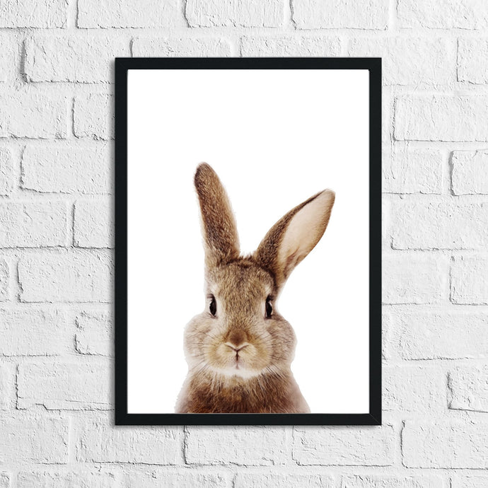 Rabbit Animal Woodlands Nursery Children's Room Wall Decor Print
