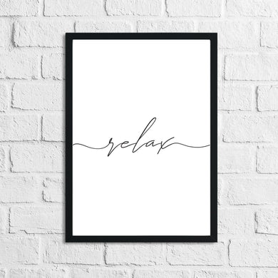Line Relax Bathroom Wall Simple Decor Print