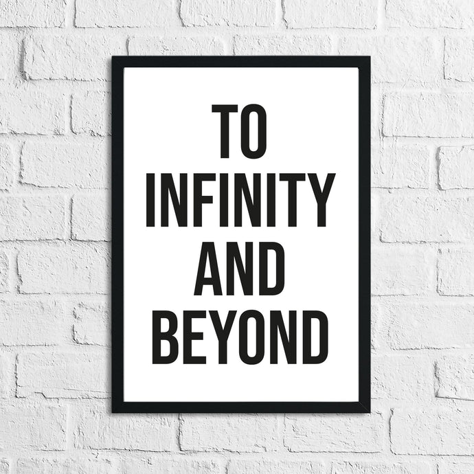To Infinity And Beyond Children's Room Wall Bedroom Decor Print