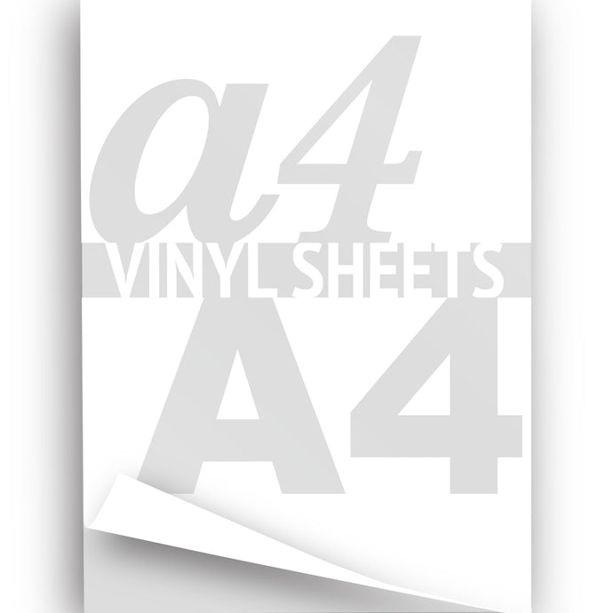 A4 Gloss Vinyl Sheets, White