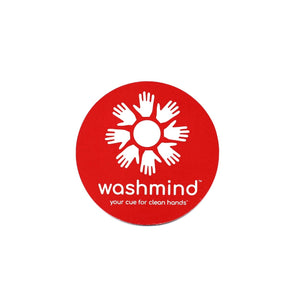 large double sided washmind cling decal for entry window or door of room