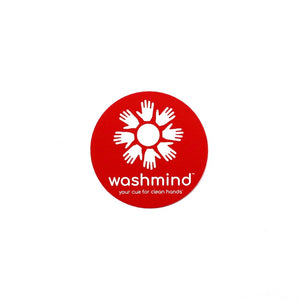 washmind single side cling decal reminder