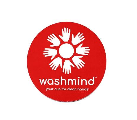 washmind signature small double sided reminder cling decal
