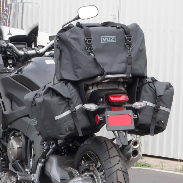 VUZ Moto waterproof motorcycle saddlebags