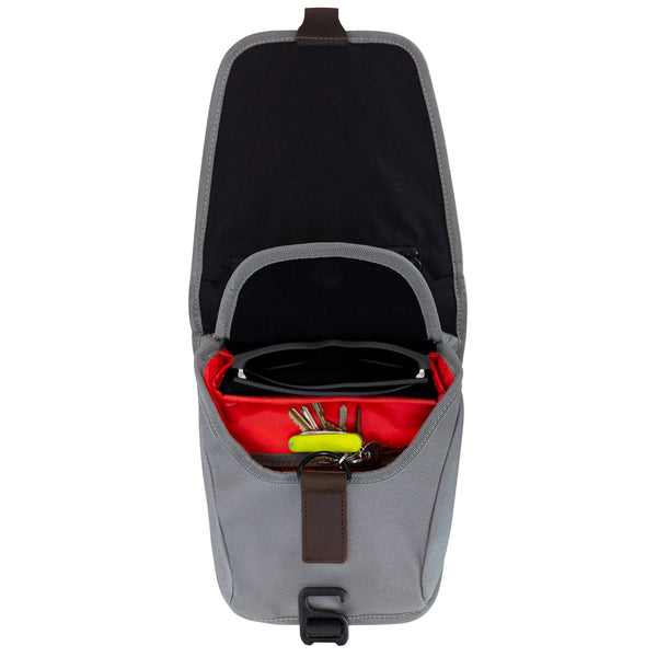 Mini Fuel Tank Luggage Bag Facing Forward With Top Open