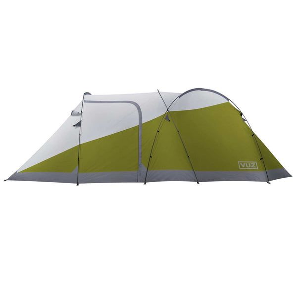 Side view of moto tent