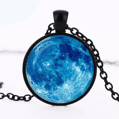 2018 New Hot Blue Moon Pendant Full Moon Necklace