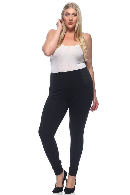 Black Ponte Pants -Plus