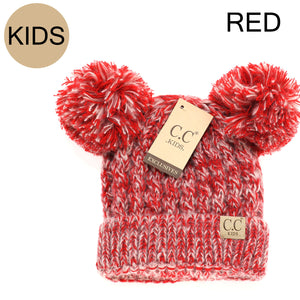 Kids CC Pom Beanie-Red