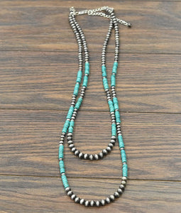 Devon  Heishi Turquoise Navajo Pearl Necklace