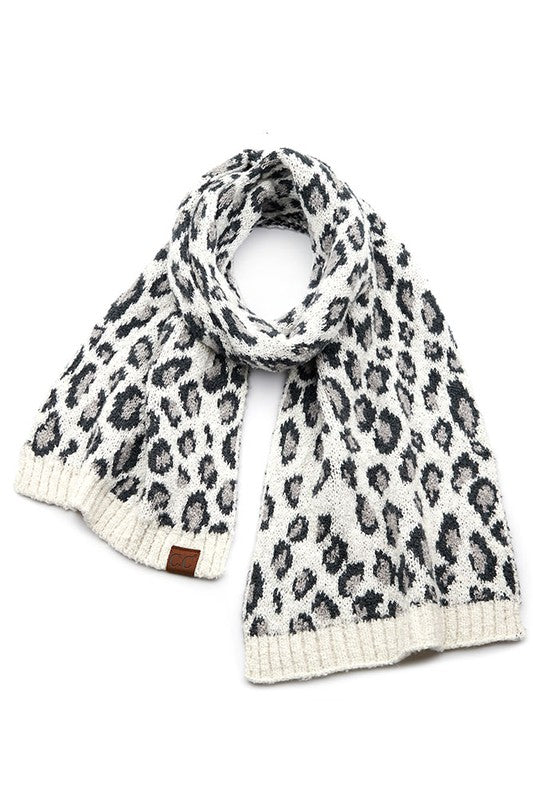 Brea Leopard CC Scarf-IVORY