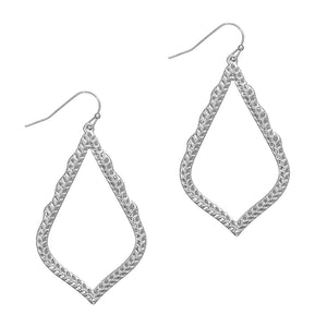 Kaitlyn Silver Teardrop  Earrings