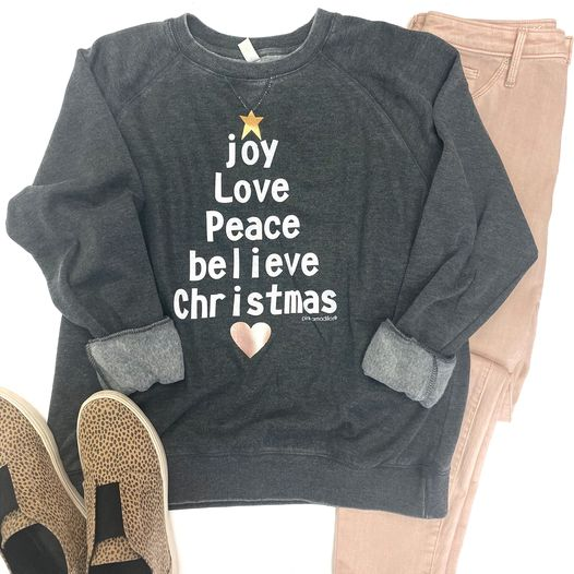 Joy Peace Love Believe Sweatshirt