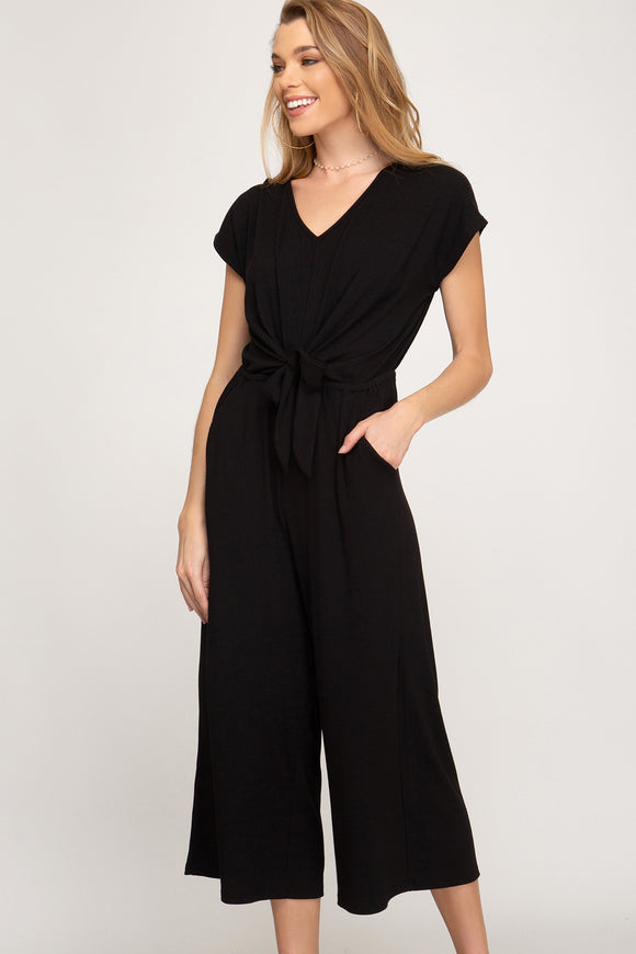 Blair Midi Black Jumpsuit