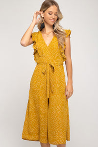 Shelly Mustard Culotte Jumpsuit