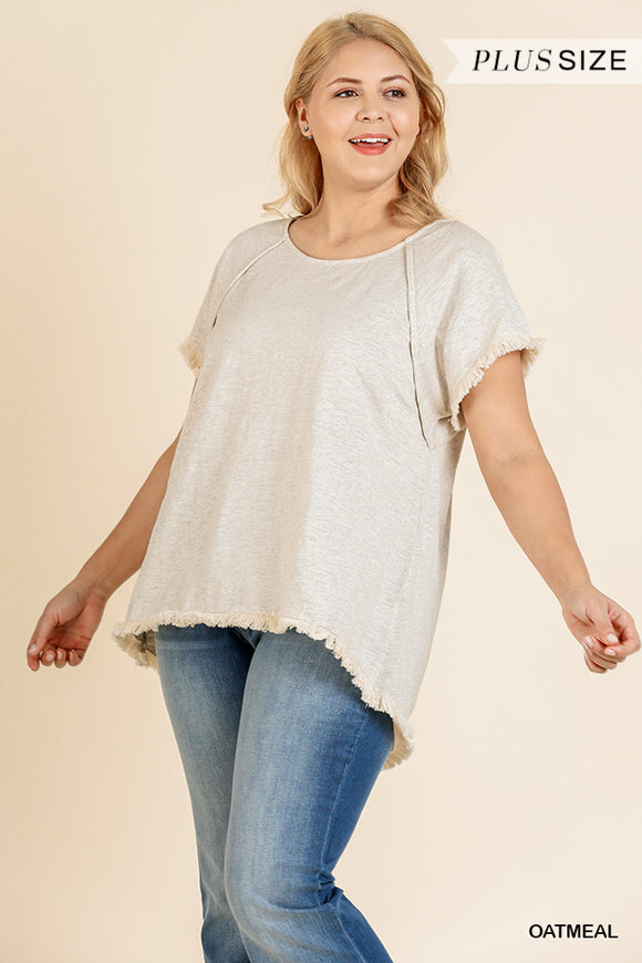 Lyndy Knit Top -Curvy-Oatmeal