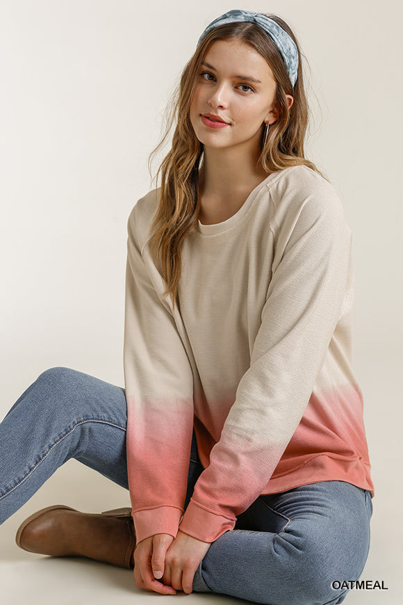 Megan French Terry Dip Dye Sweatshirt