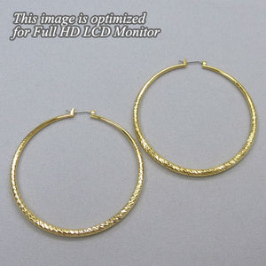 Caren Large Gold Hoop Earrings