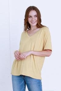 Taylor Striped Top-Golden