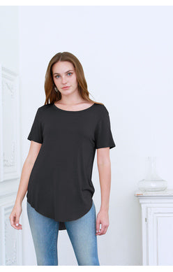 Julie Basic Tee-Black